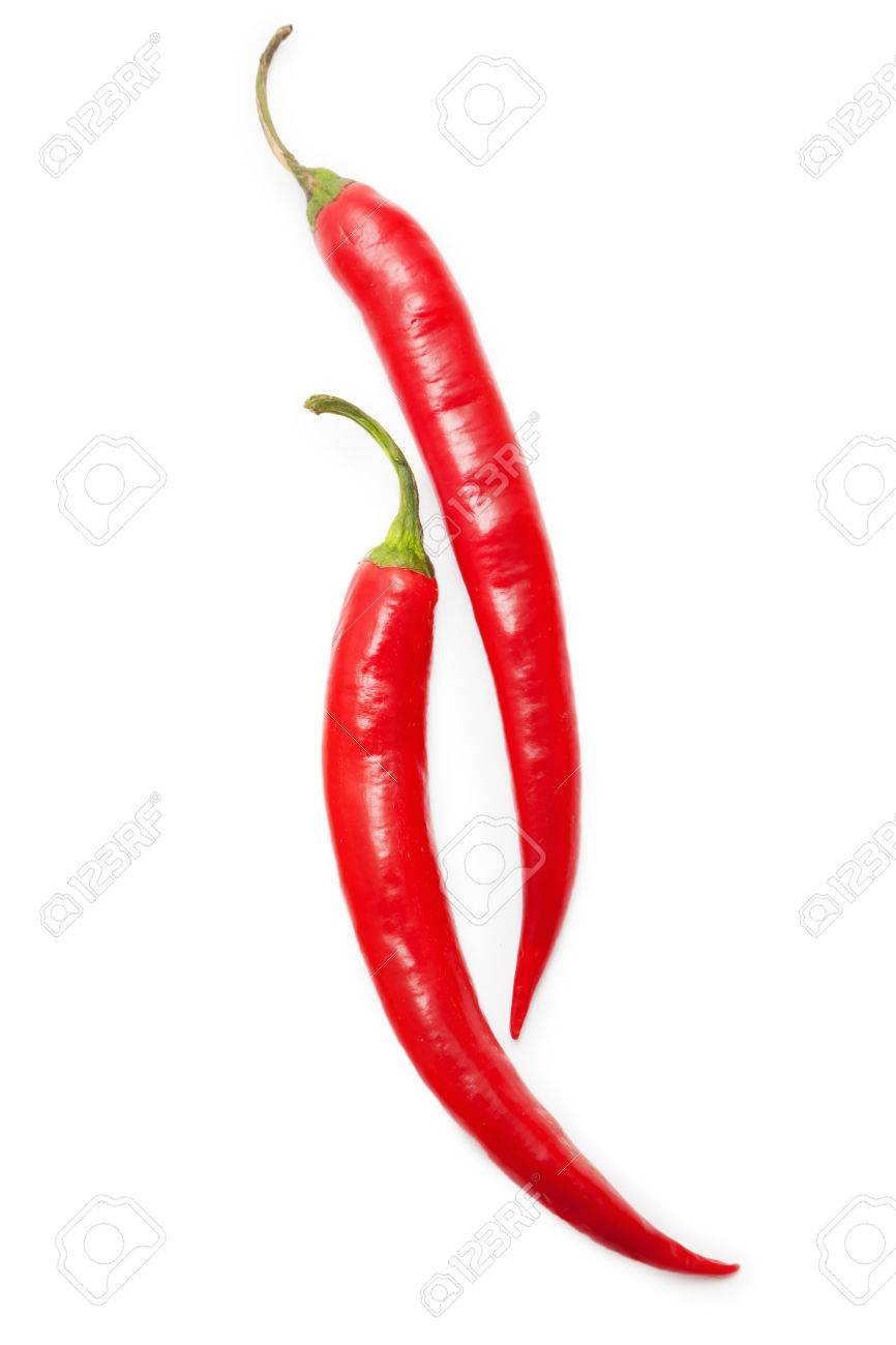 Cihili peppers isolated on white - 60682404