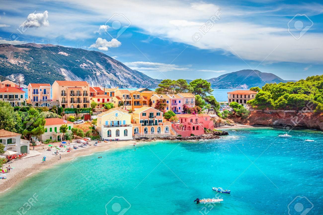 Assos village in Kefalonia, Greece - 84492287