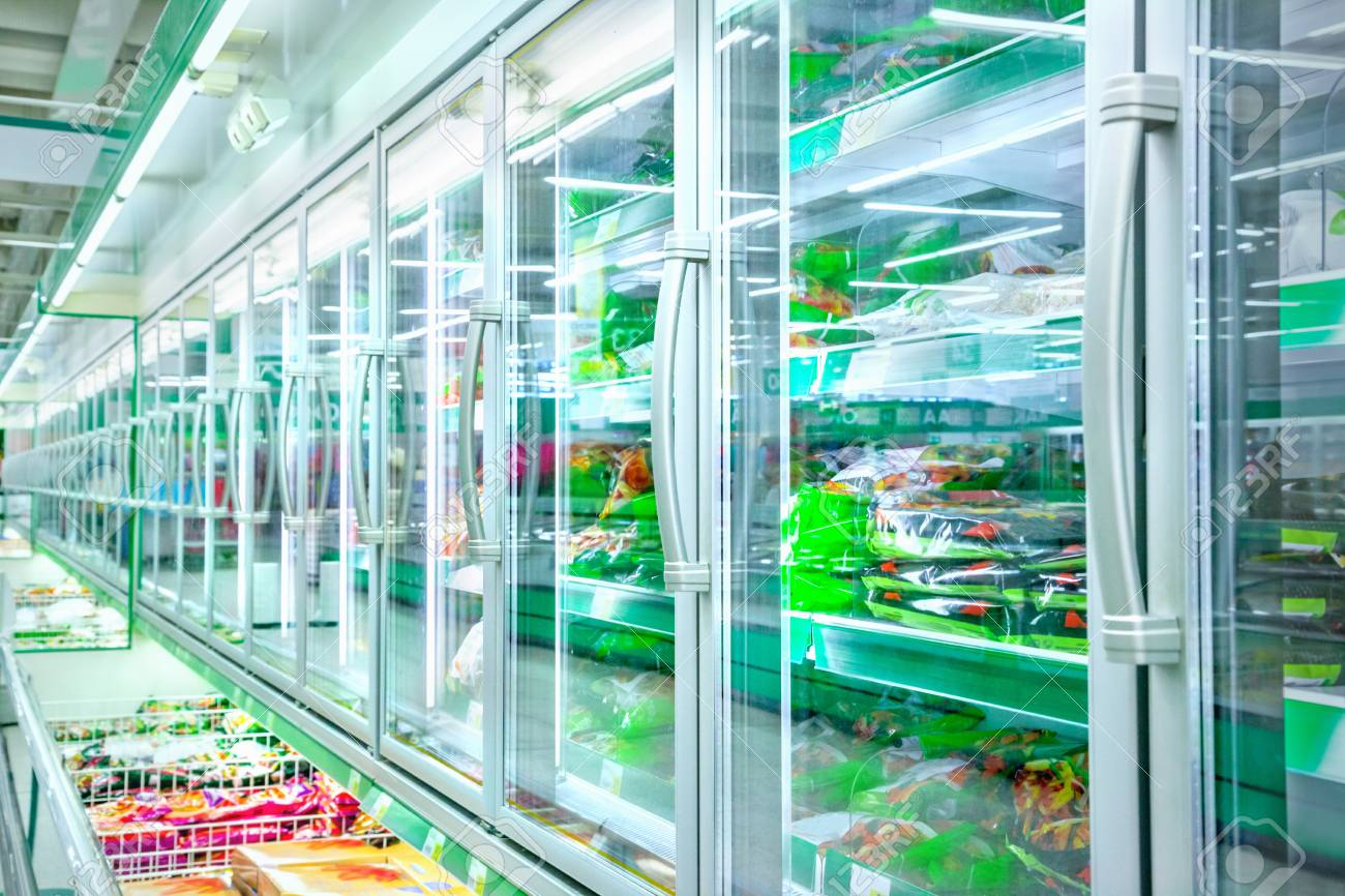Refrigerator in the supermarket - 85844408