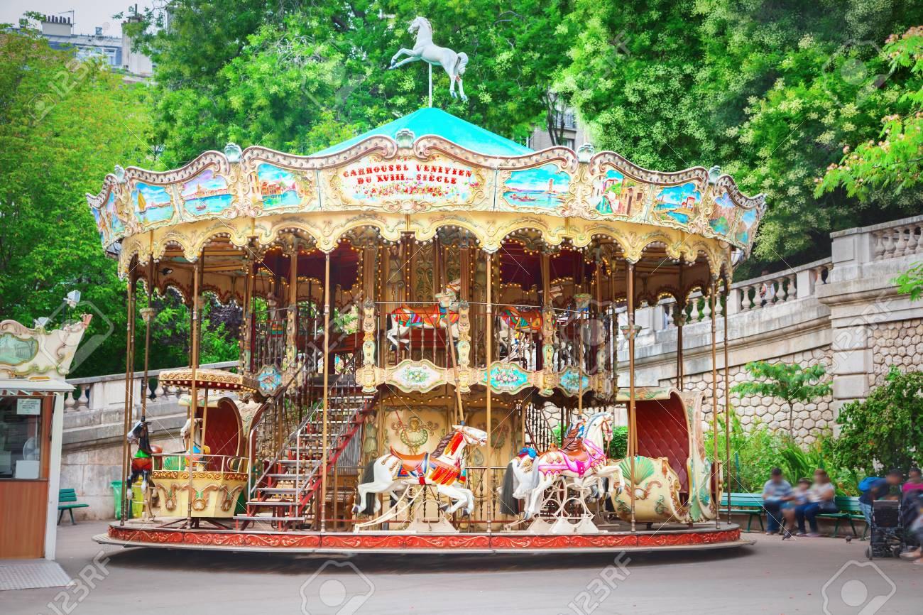 Merry-go-round in Paris - 98825970