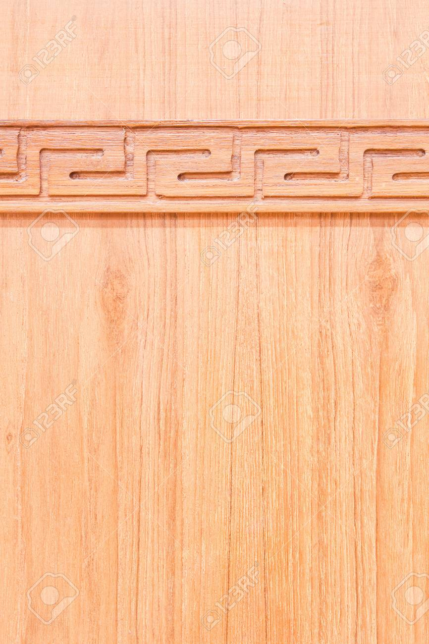 Carving wood on wooden wall Stock Photo - 9637489