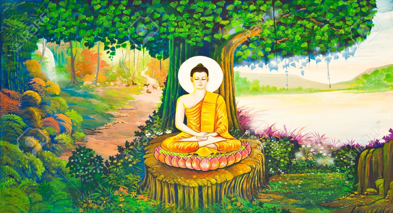 Image result for thai buddha paintings