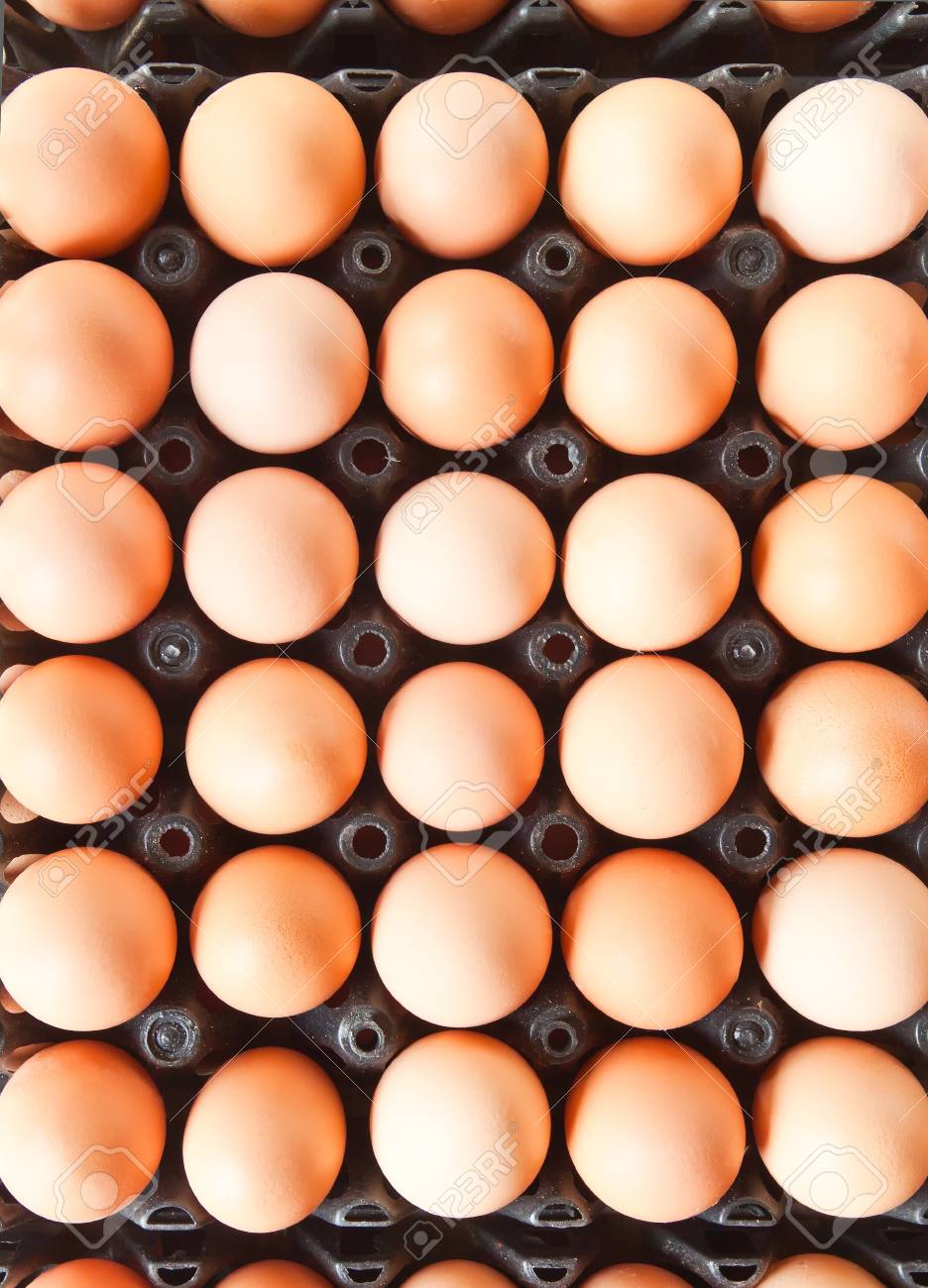 Many brown eggs in boxes. Stock Photo - 12686879