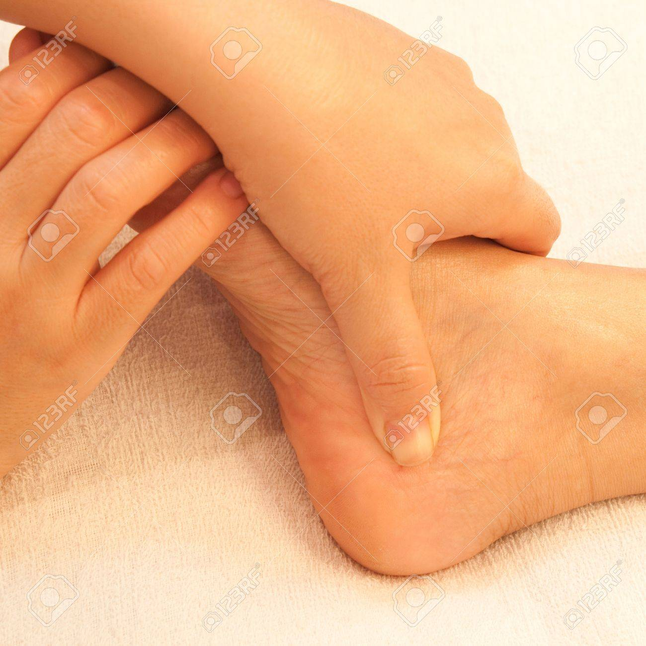 reflexology foot massage, spa foot treatment,Thailand Stock Photo - 17949128