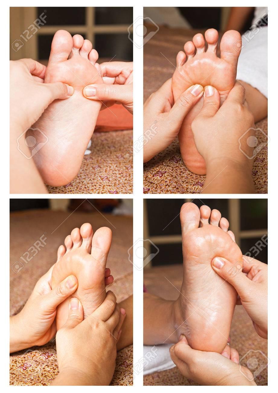 Collection of reflexology foot massage Stock Photo - 26420375