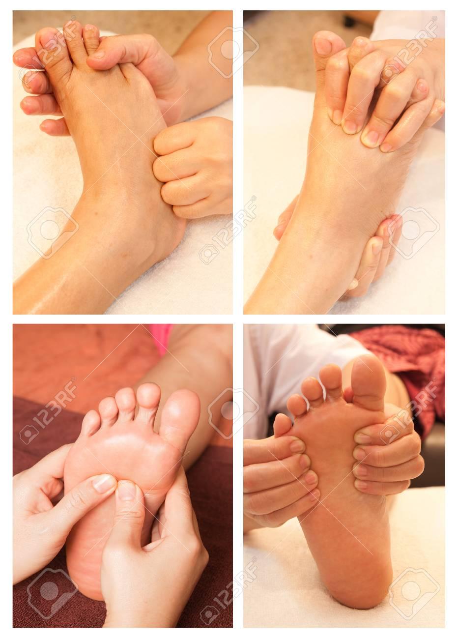 Collection of reflexology foot massage Stock Photo - 26420376
