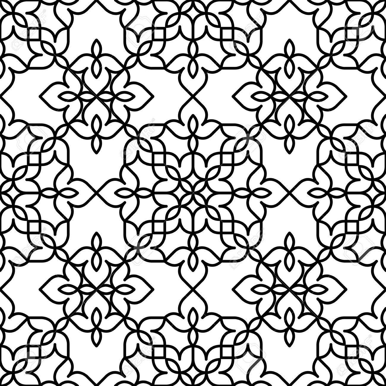 Schwarz Weisses Marokkanisches Muster Lizenzfrei 13
