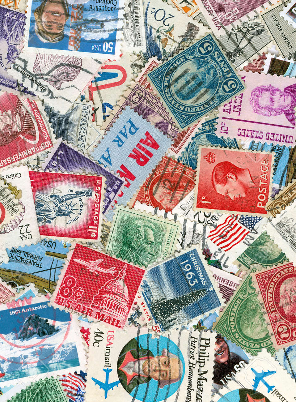 Collection of US vintage postmarks Stock Photo - 5223433