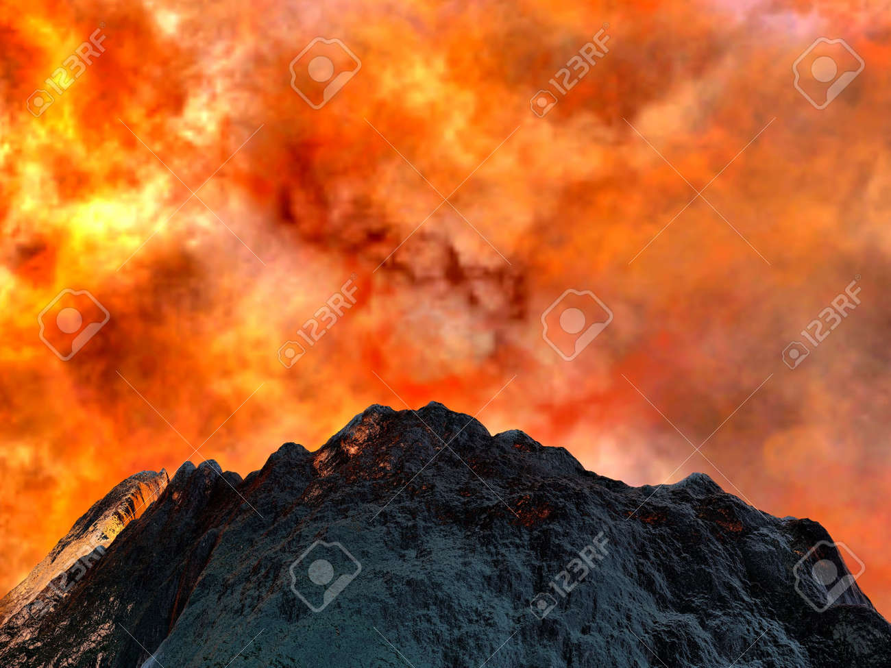 Young volcano being born Stock Photo - 6730438