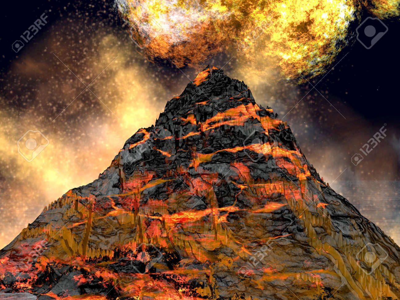 Young volcano being born Stock Photo - 6833249