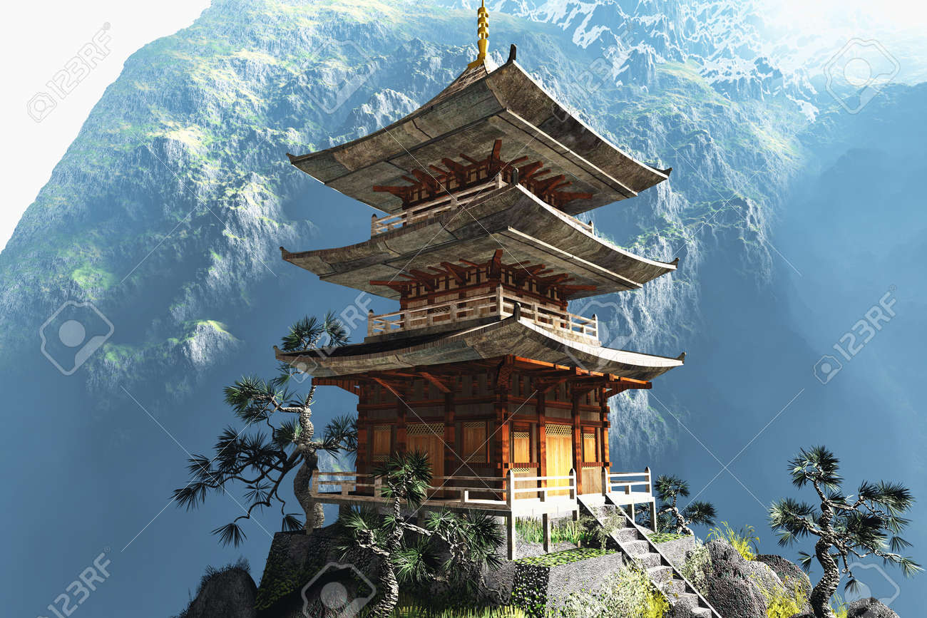 Buddhist Zen Temple Stock Photo Picture And Royalty Free Image