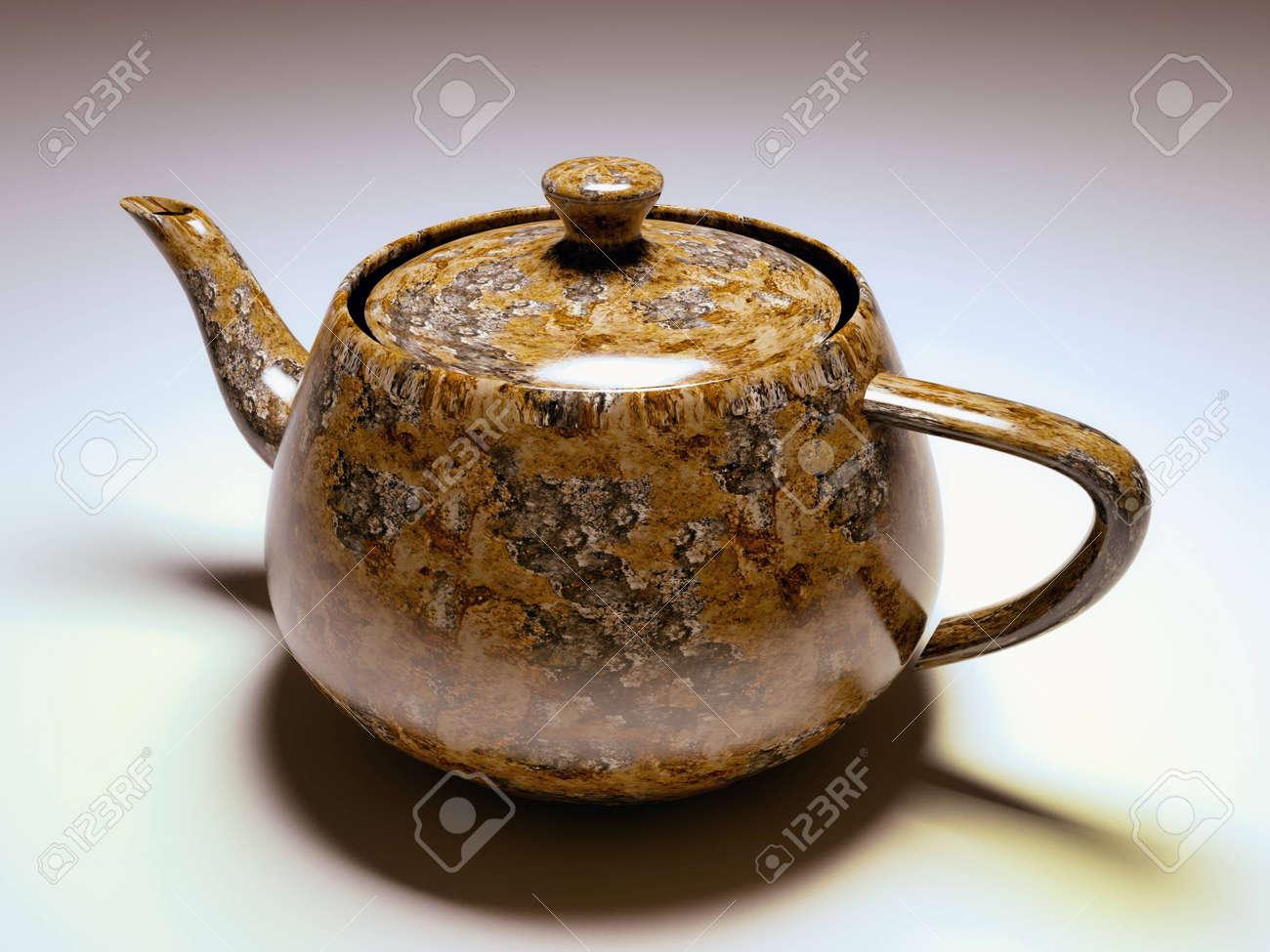Travertine tobacco teapot Stock Photo - 11224509