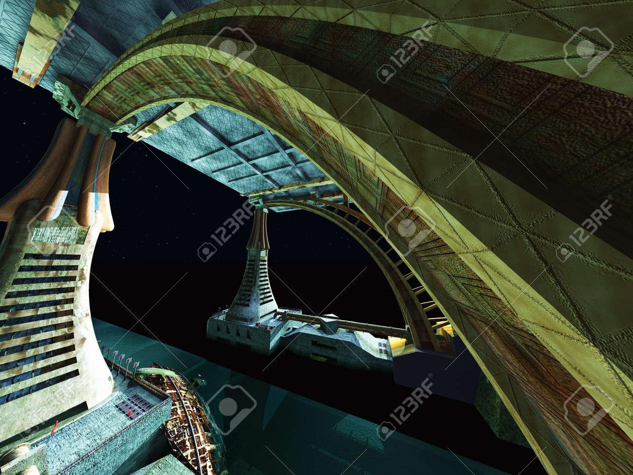 Alien City Stock Photo - 18728152