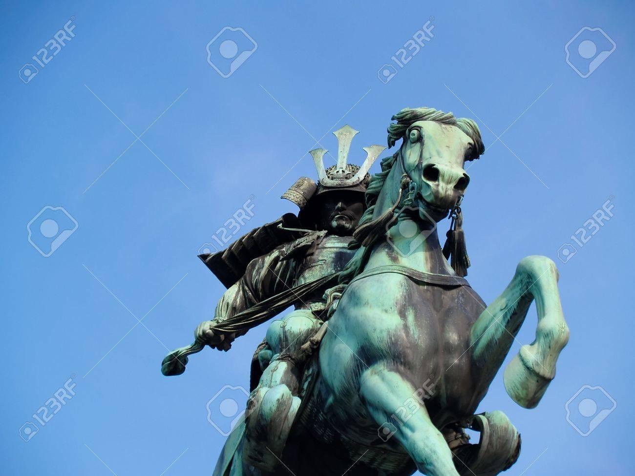 6759727-Samurai-jinete-caballo-masashige