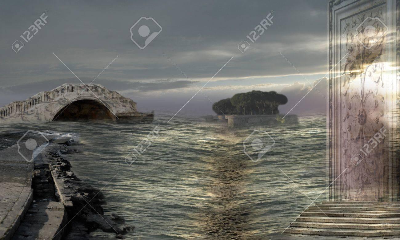 Mysterious seaway Stock Photo - 13897122