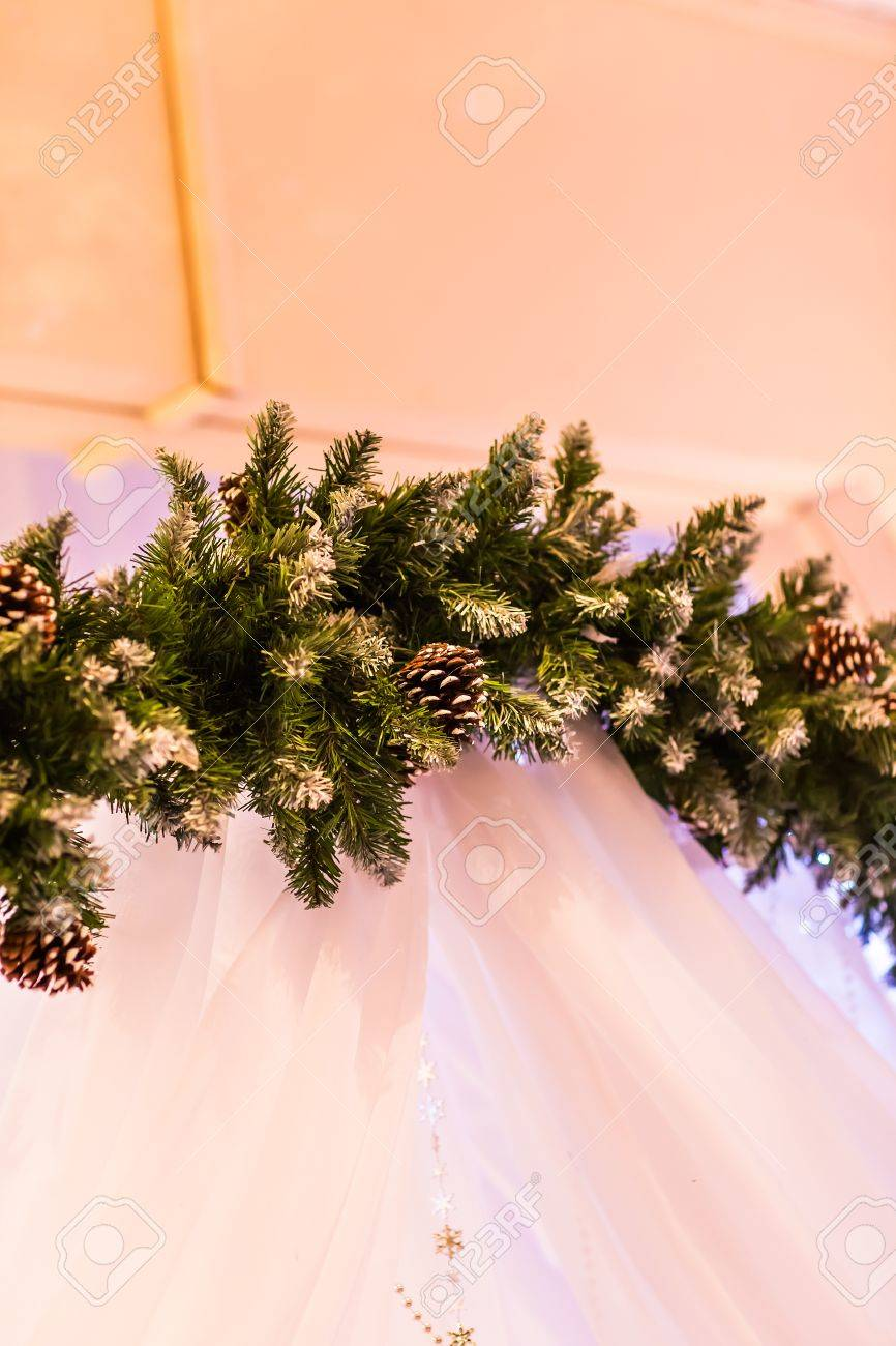 Christmas decorations arches for a winter wedding stock photo christmas decorations arches for a winter wedding stock photo 42947207 junglespirit Gallery