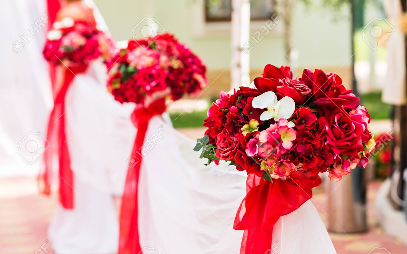 Wedding Ceremony Decorations Outdoors. wedding in nature - 55231783