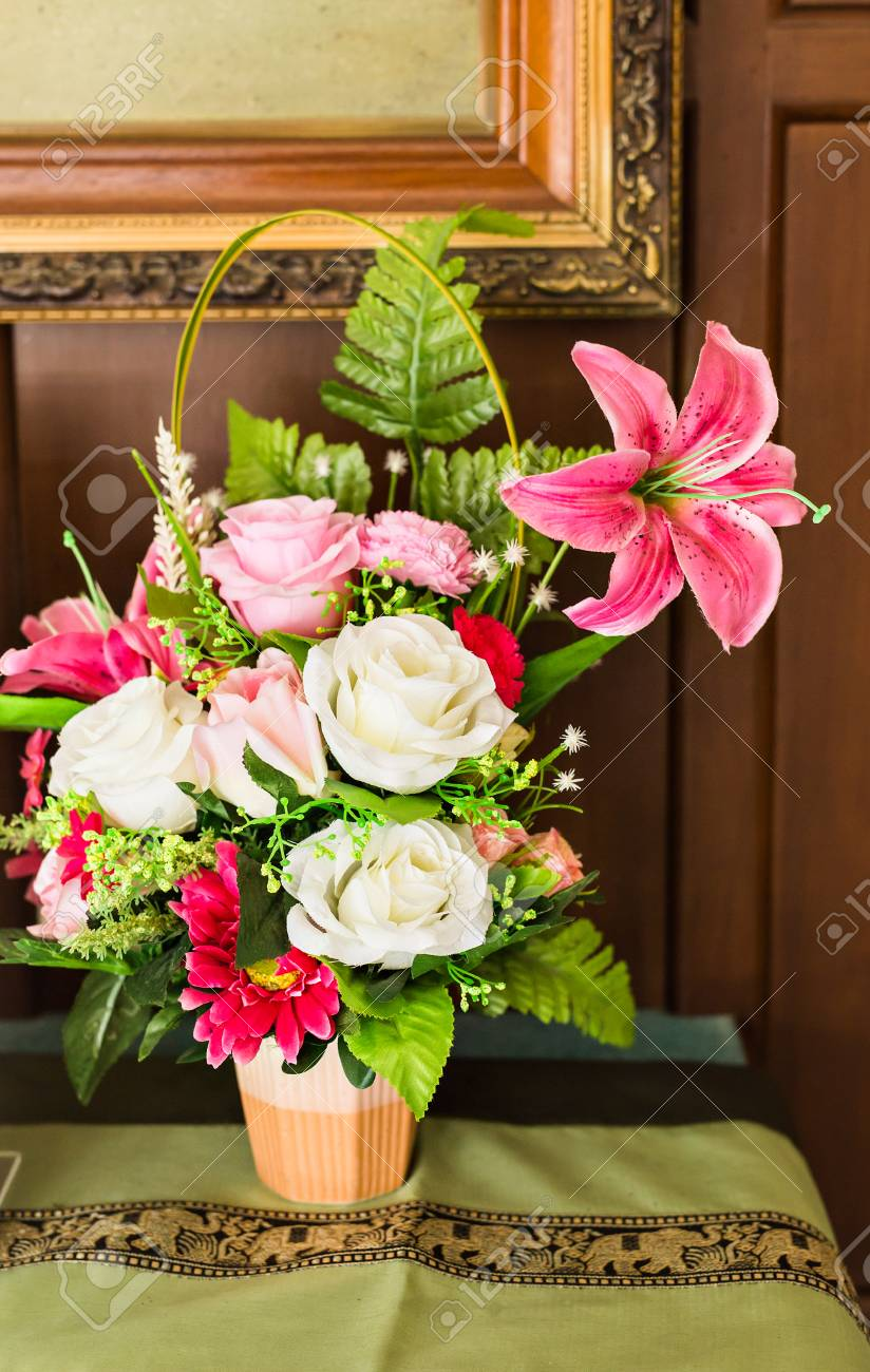 Beautiful Flower Pot Herbs In Plant Pots Growing Stock Photo