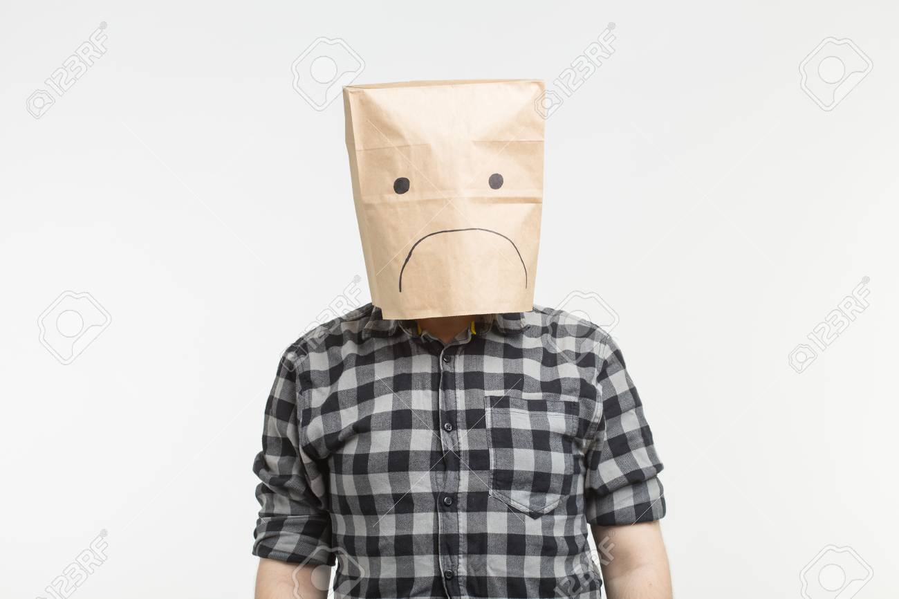 Coronavirus - will we survive? - Page 20 105012497-unhappy-man-with-sad-emoticon-in-front-of-paper-bag-on-his-head-on-white-background