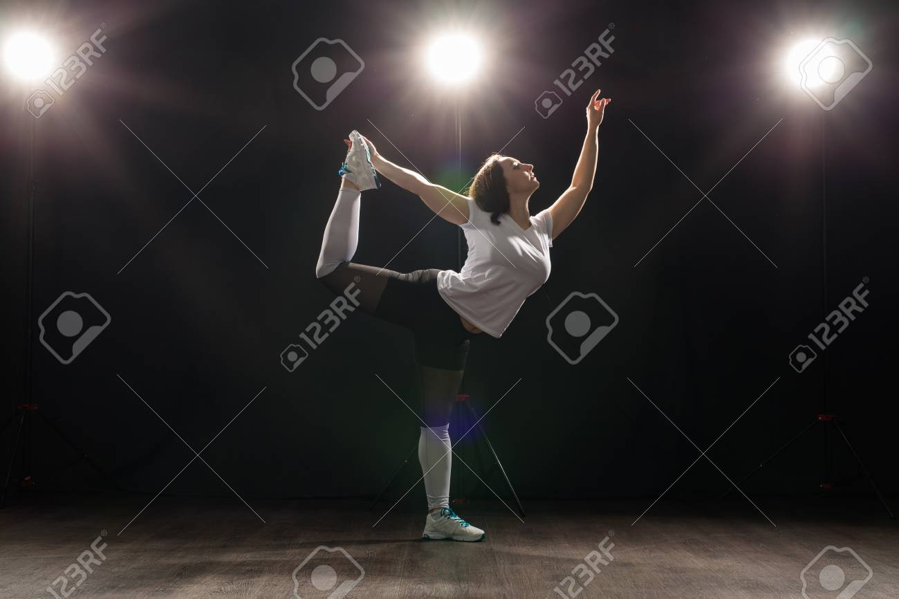 Dance, hip-hop, jazz funk and people concept - flexible young
