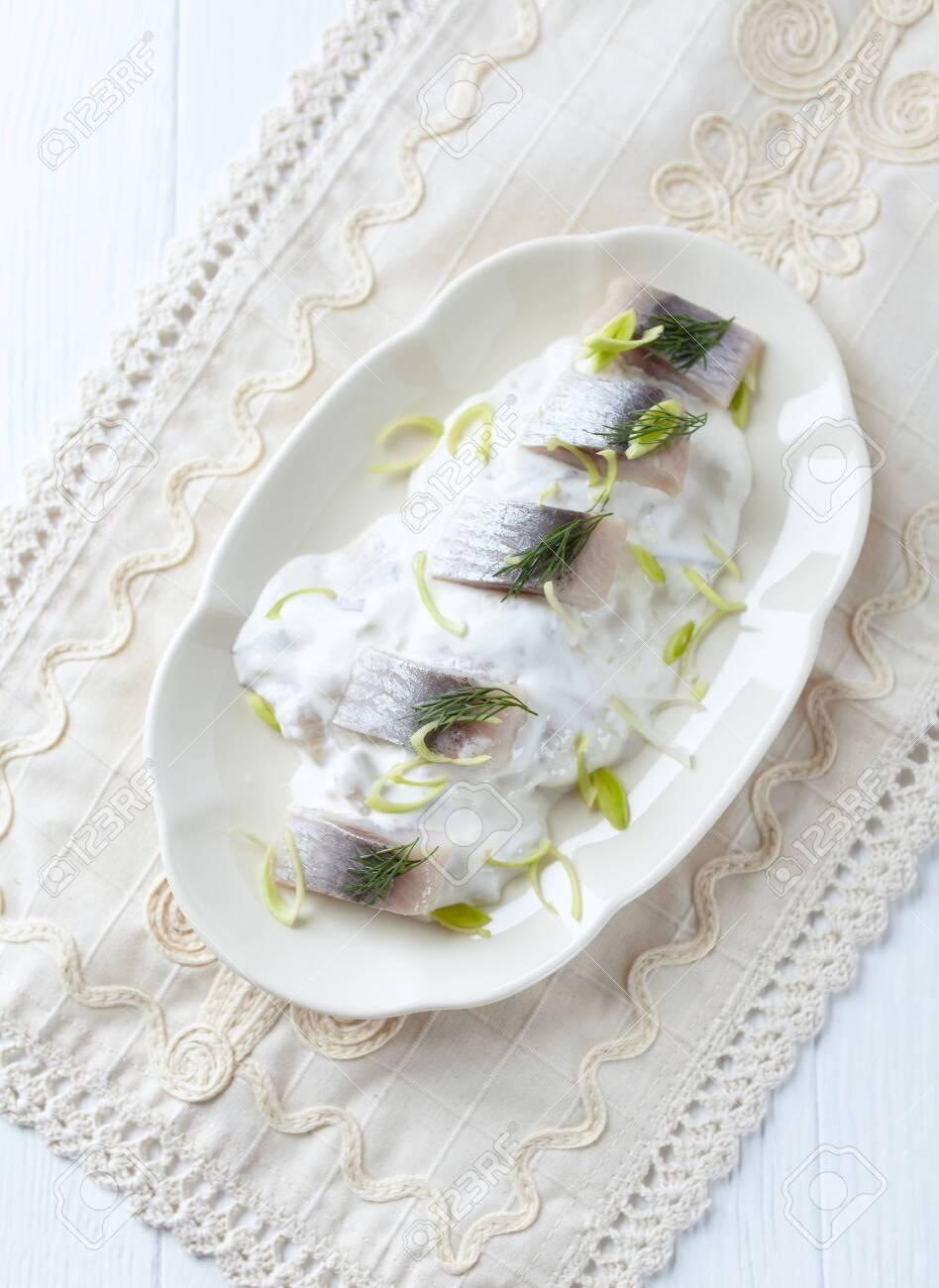 Herring in Cream Sauce - 142927214