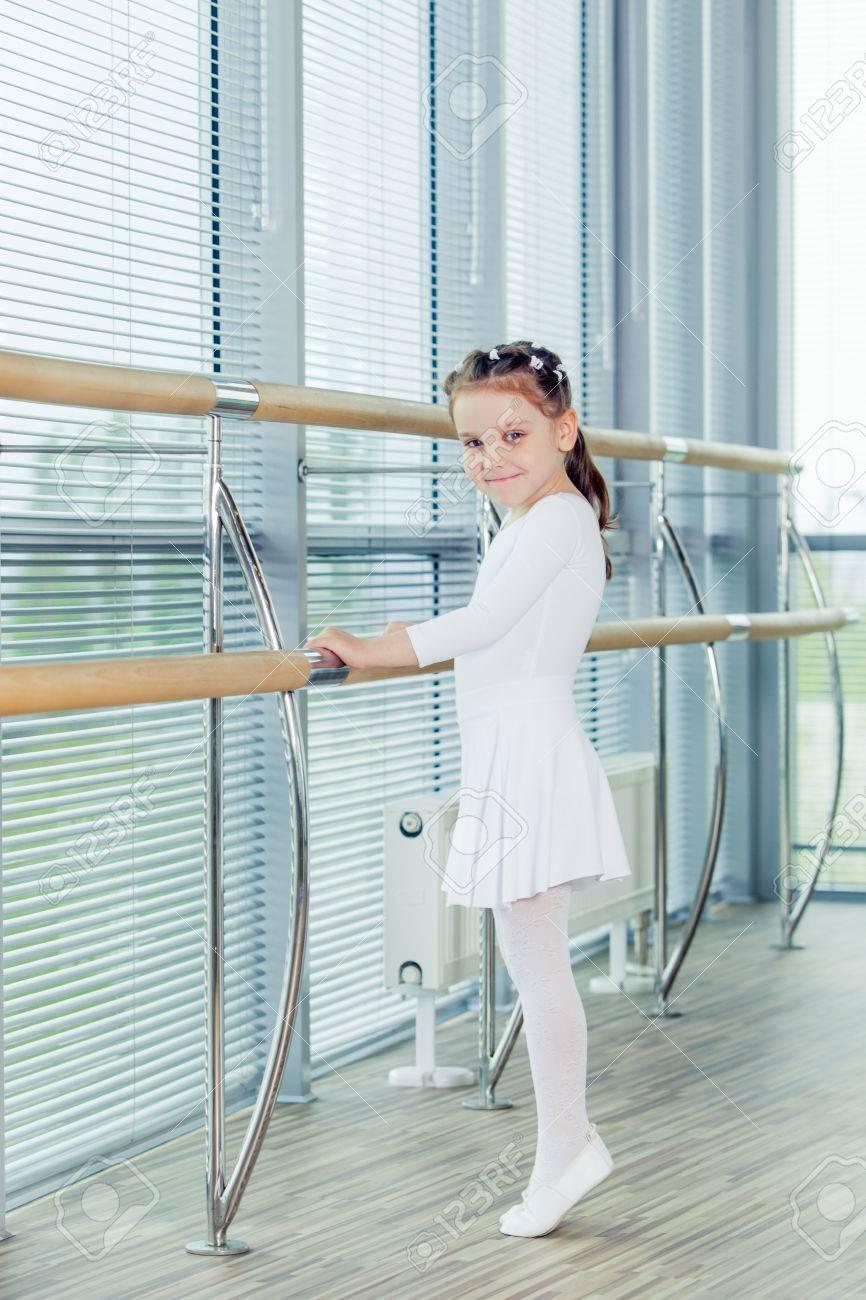 little ballerina adorable child dancing classical ballet