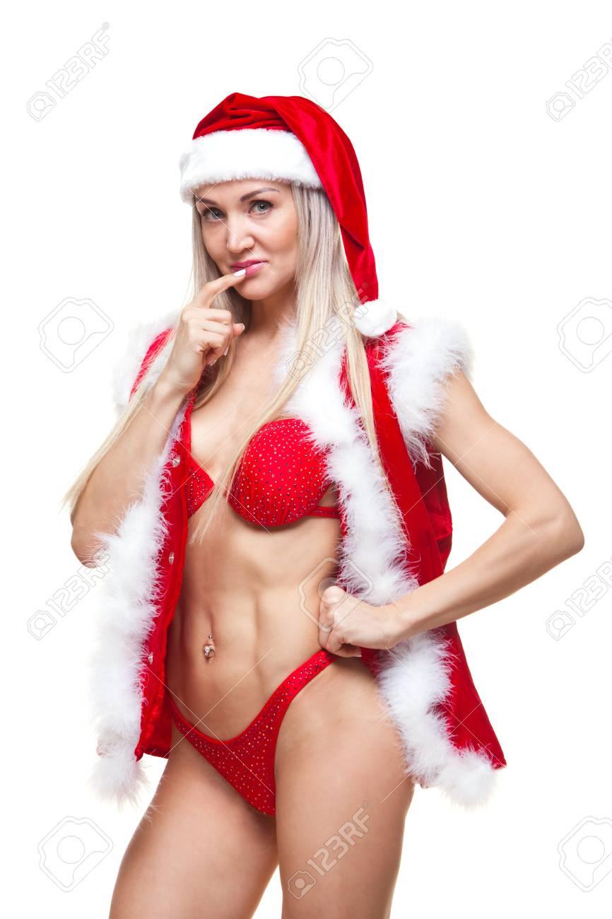 Sexy female santa claus
