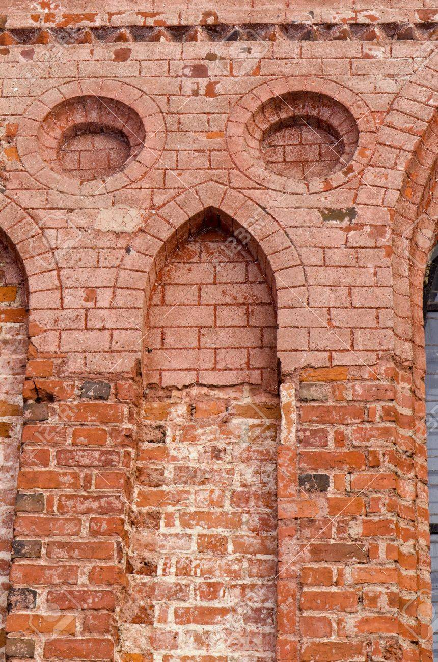 Ancient Architecture Grunge Red Brick Building Decorative Wall Background  Stock Photo   12567539
