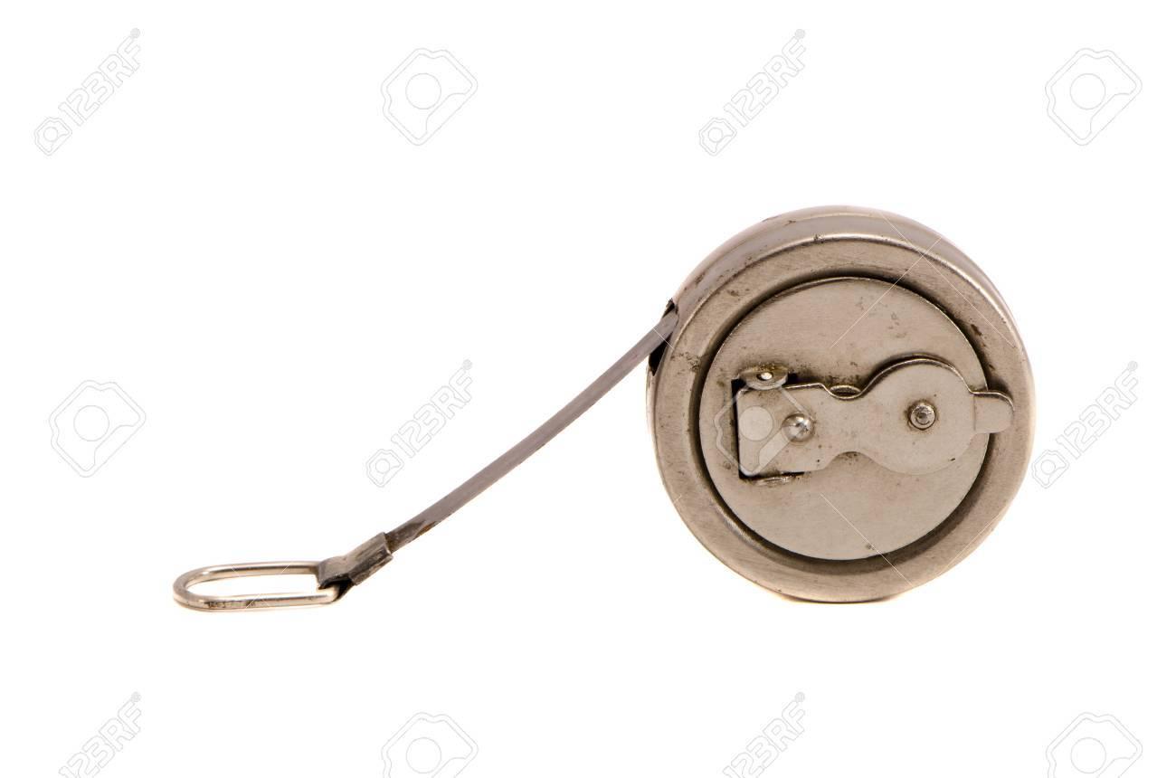 Alte Gerate Zum Messen Der Lange Metall Roulette Grunge Isoliert