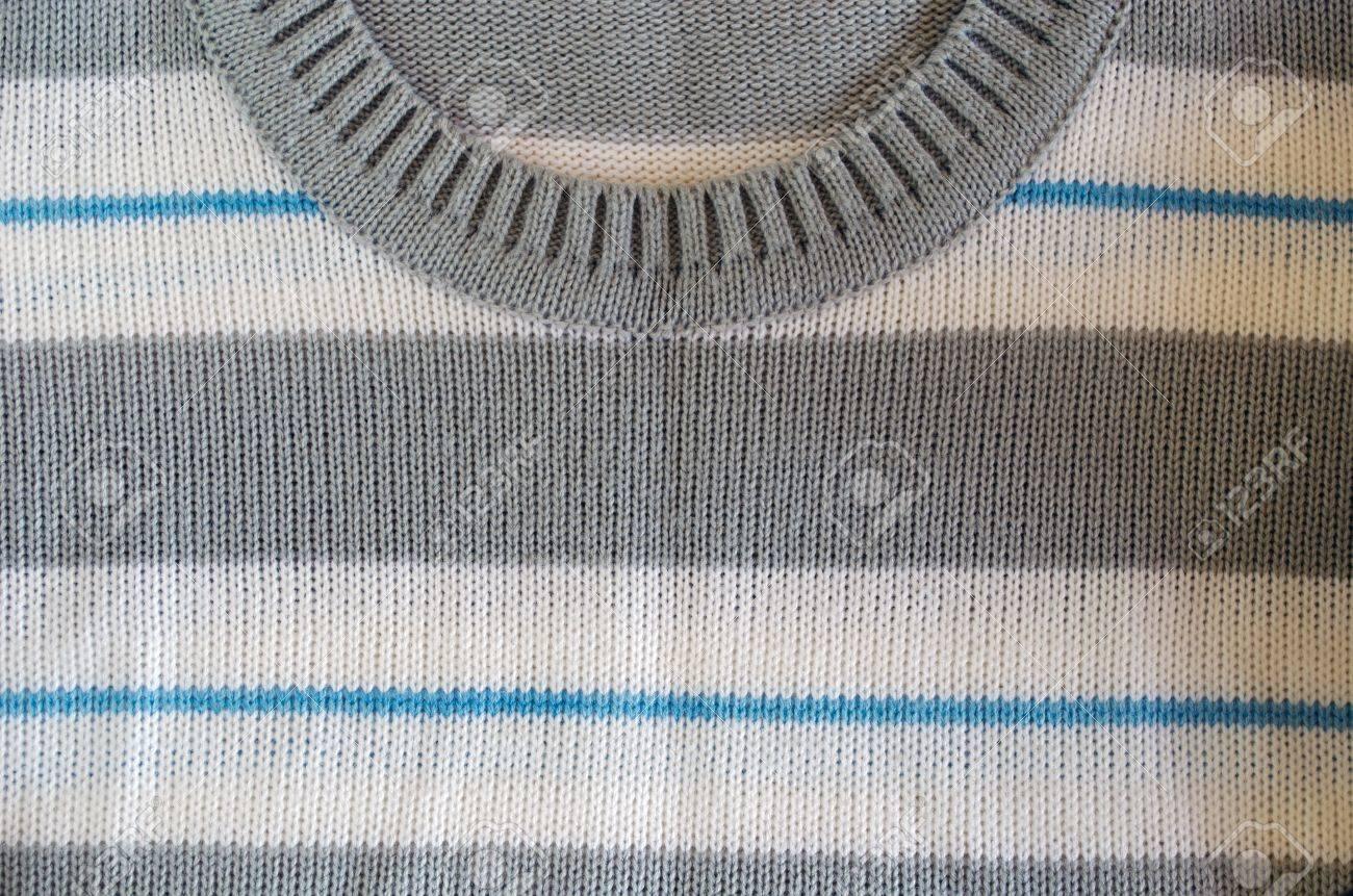 Halsausschnittlänge Stoffmuster Blau Weiß Grau Farbe Hintergrund  Standard Bild   16461693