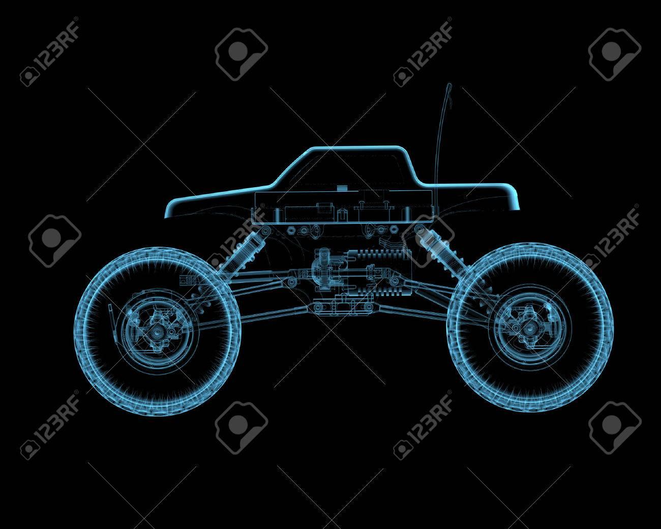 Rc Radiografía Transparente Juguete 3d Coche Azul DH2EW9I
