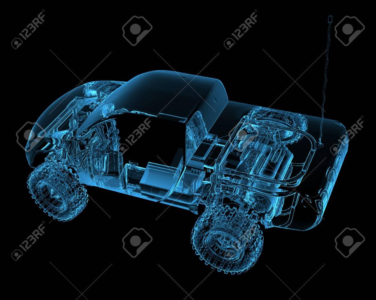 Ferngesteuerte RC Spielzeugauto 3D-Röntgenstrahl Blau Transparent ...