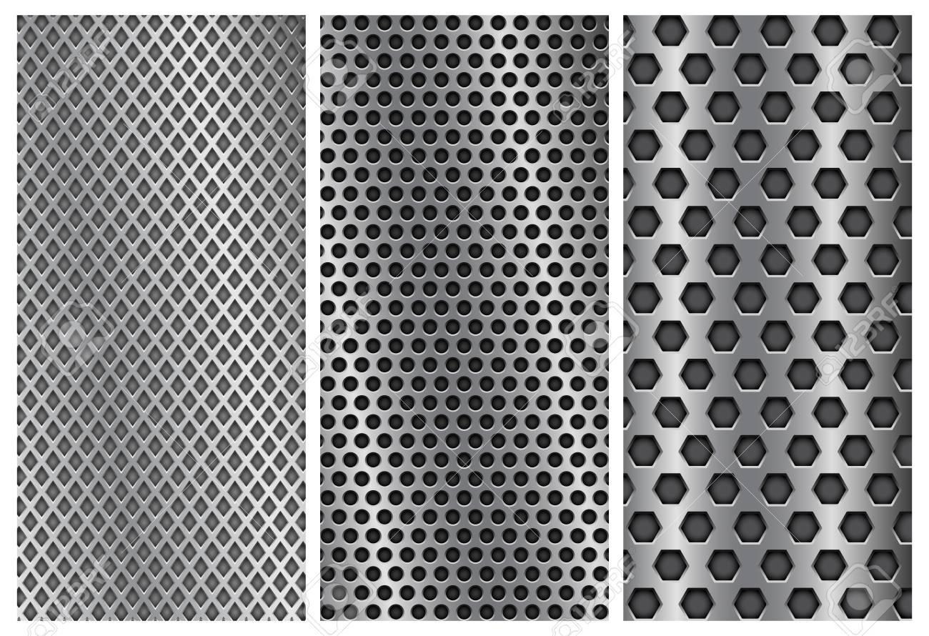metal perforated backgrounds brochure design templates steel