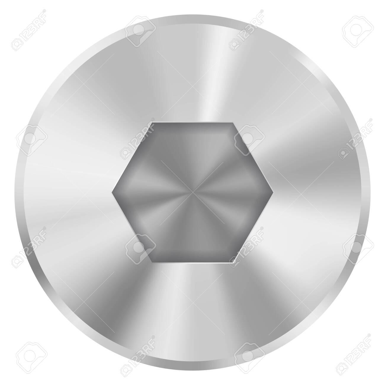 Metal bolt head - 134588726