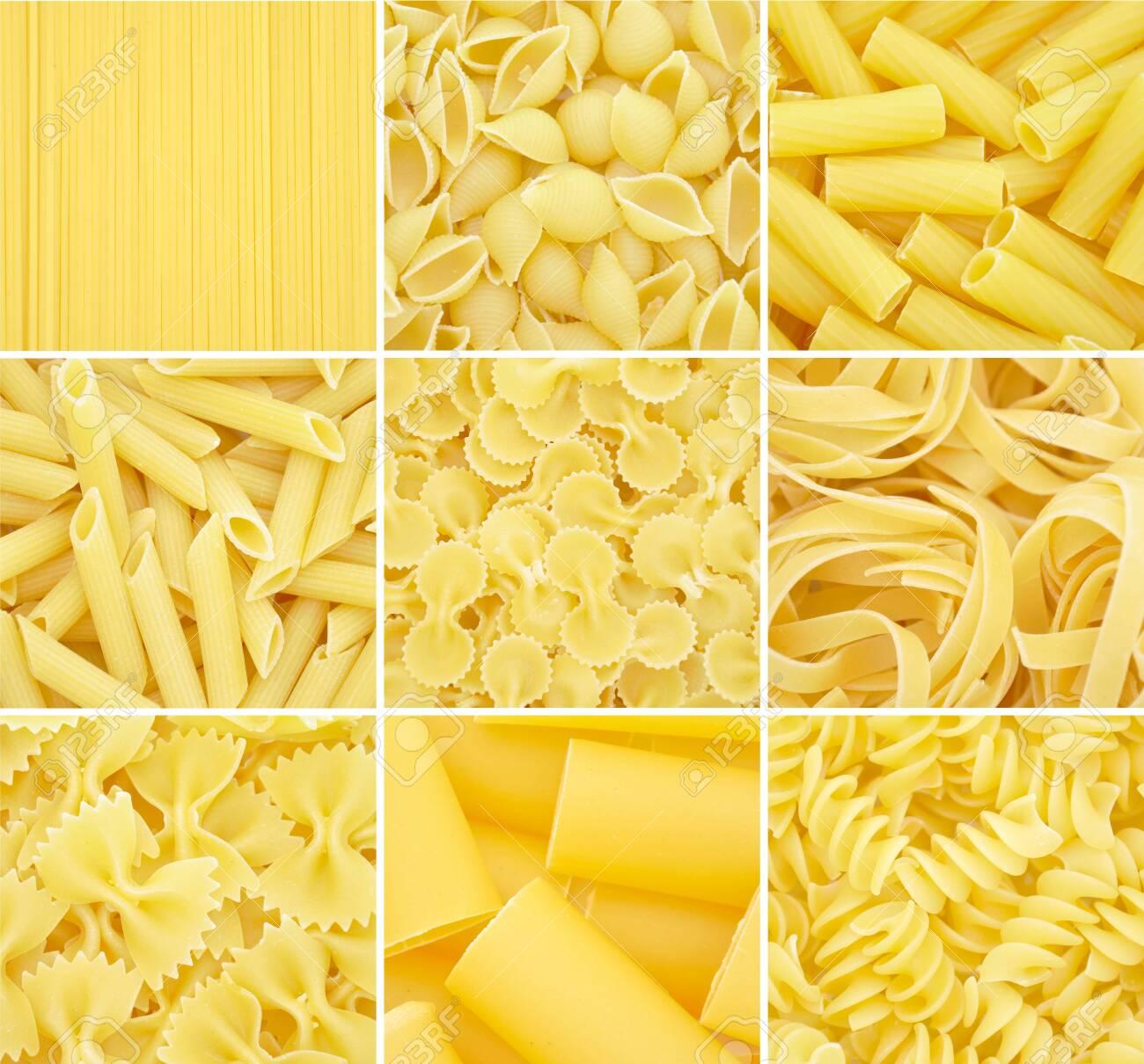 Pasta. Raw italian food isolated on white background - 150233094