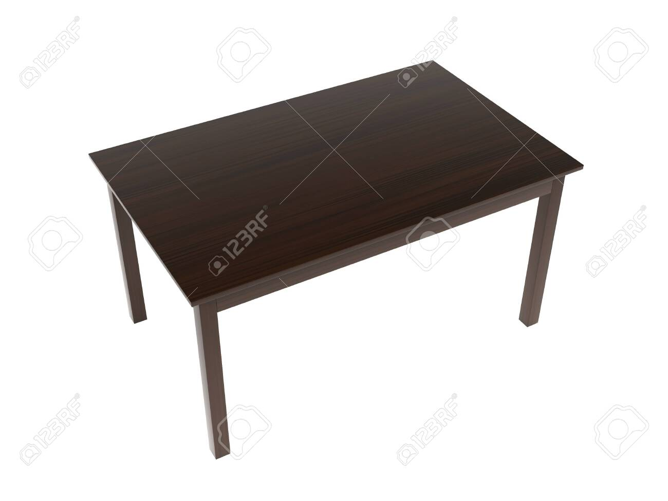 Wooden table. 3d rendering illustration isolated on white background - 150521122