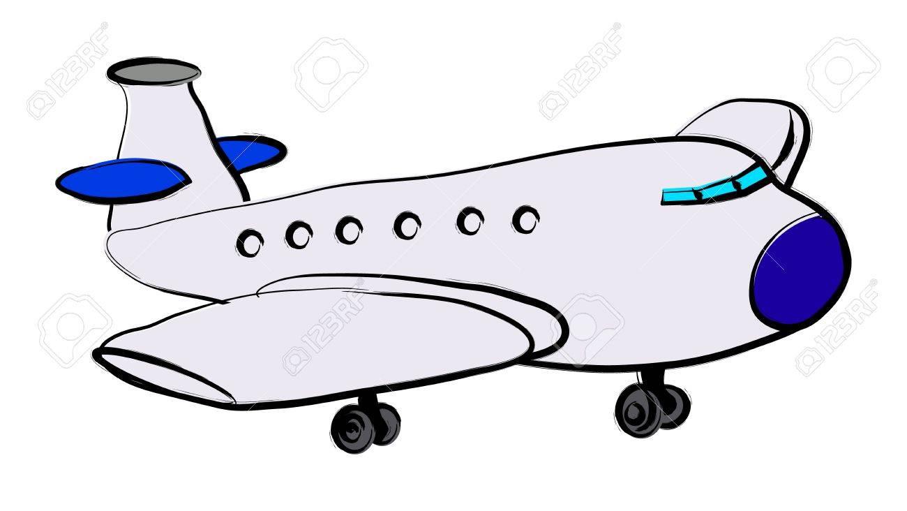 Plane illustration over a white background Stock Vector - 14487292