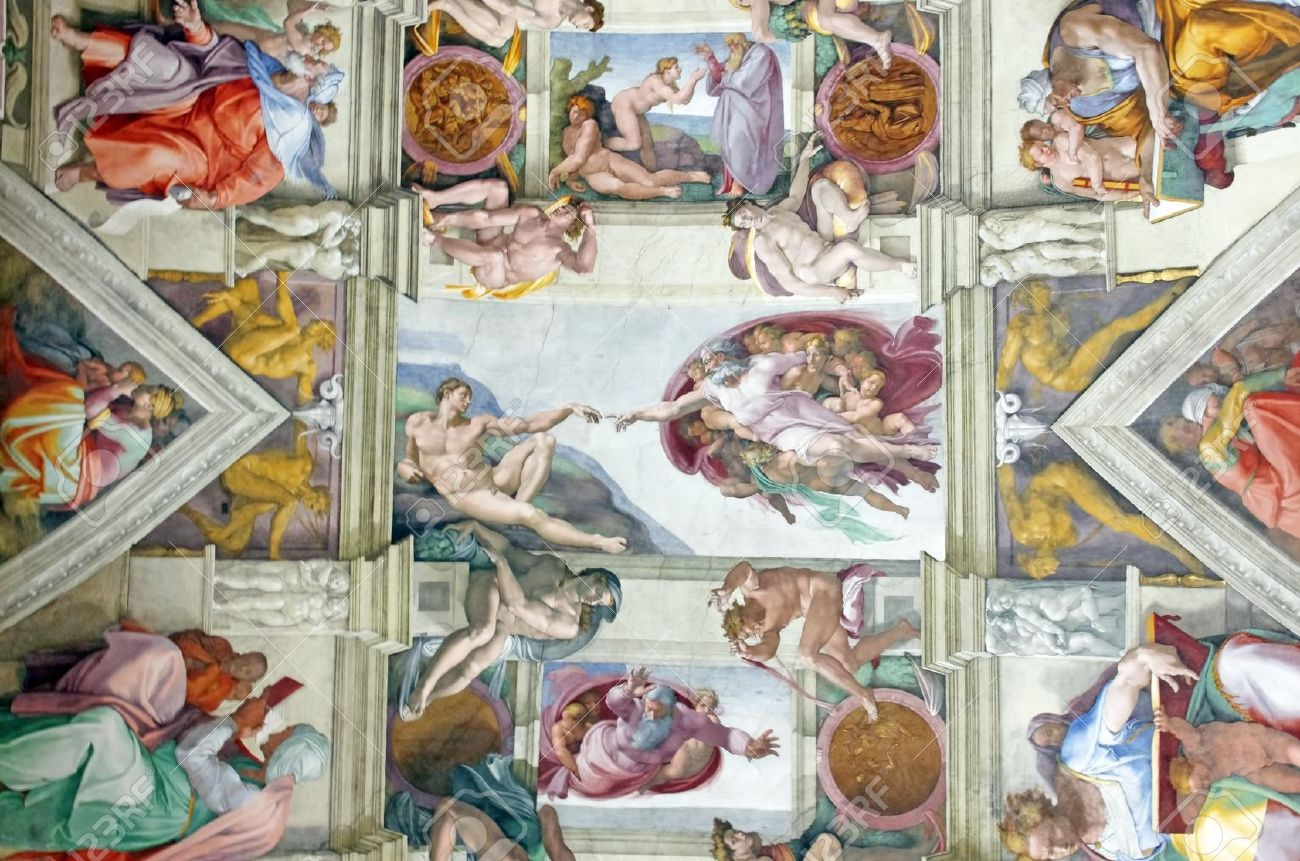 michelangelo s masterpiece sistine chapel ceiling with creation