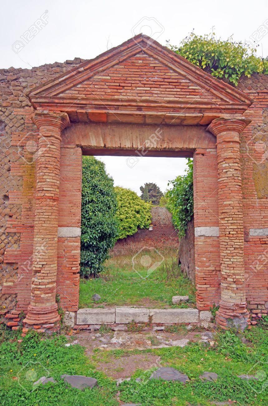 Entrance ruins at Ostia Antica, near Rome Stock Photo - 20193799