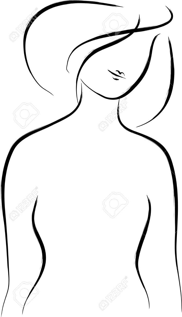 Abstract woman silhouette over white Stock Vector - 22002331