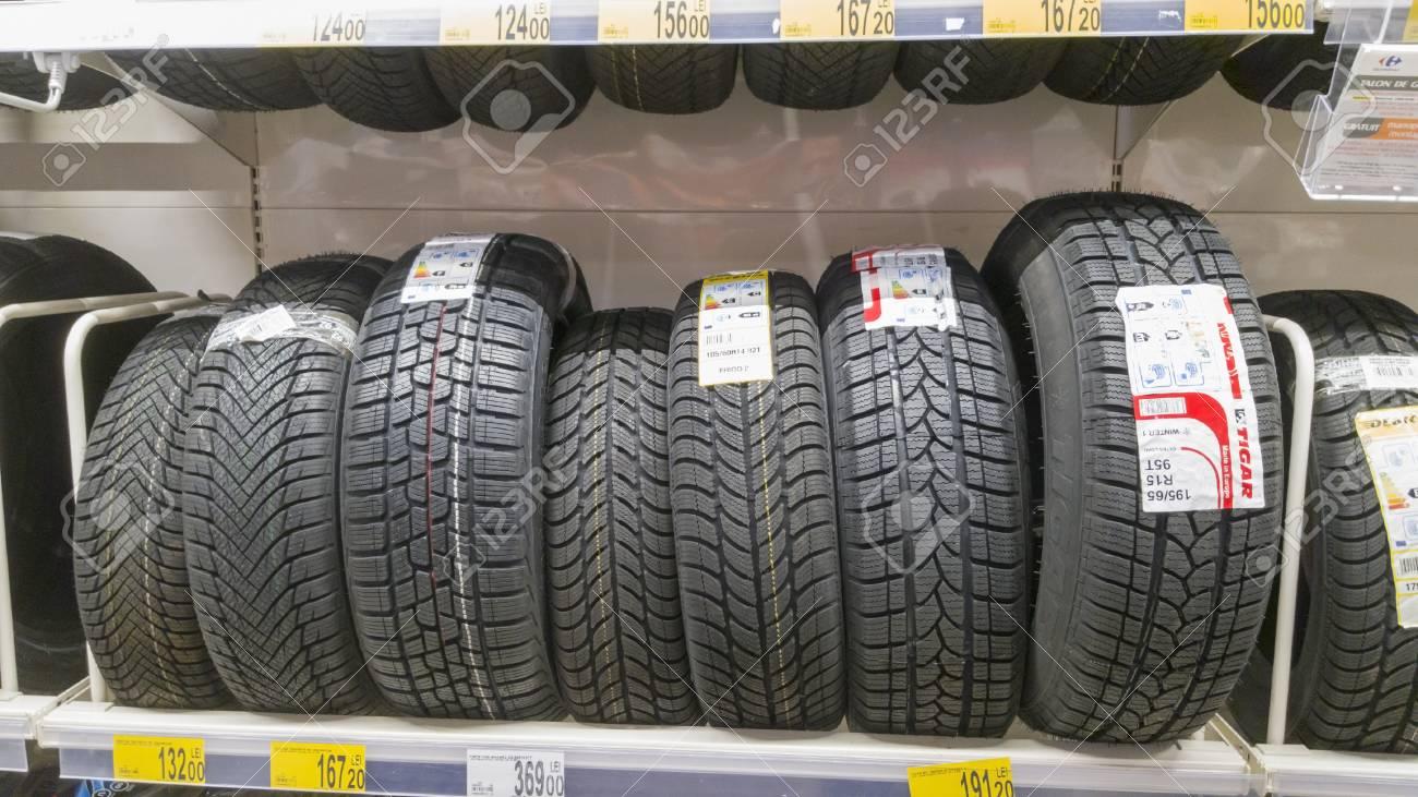 Winter Tires For Sale >> Piatra Neamt Romania February 16 New Winter Tires For Sale