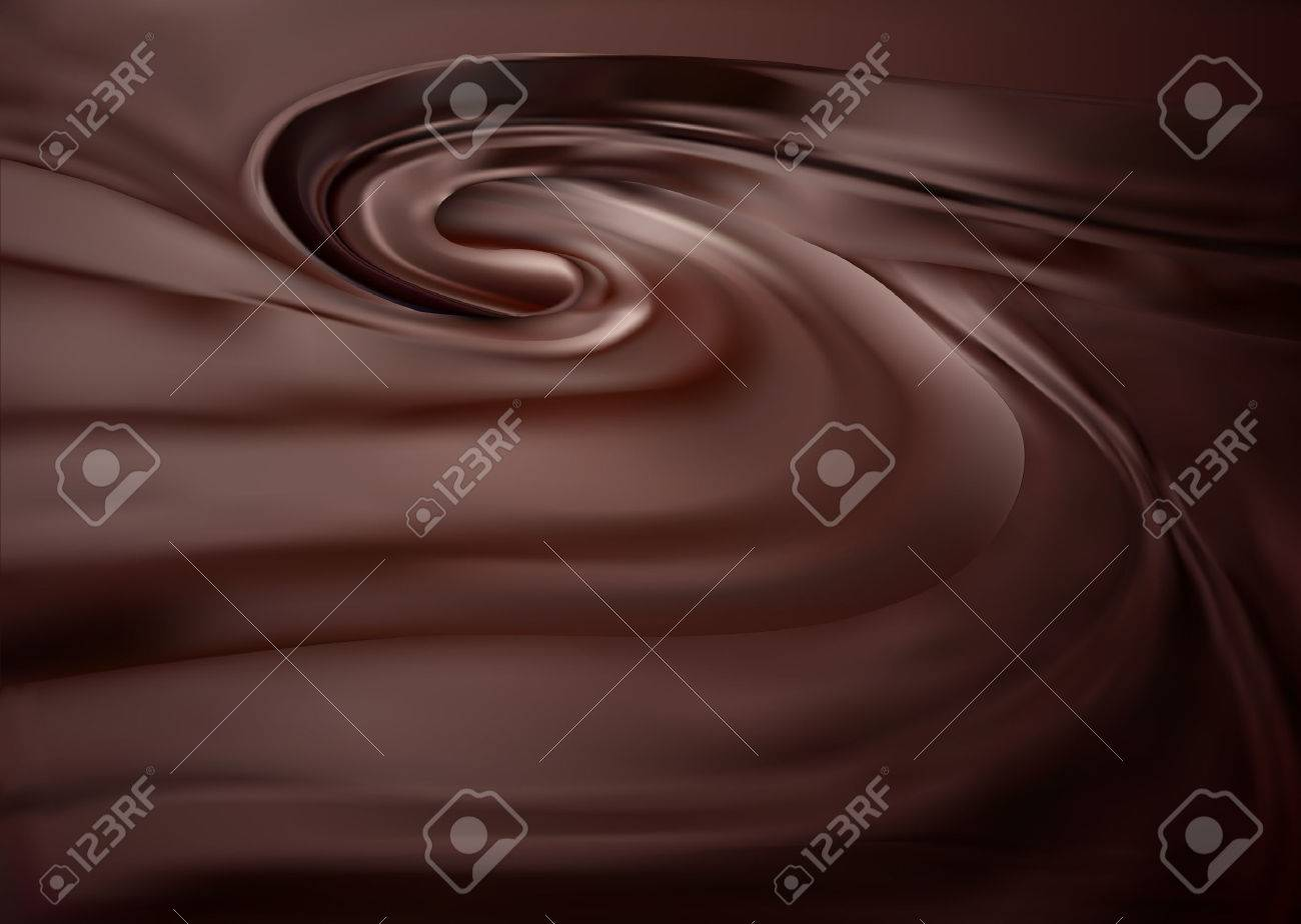Chocolate swirl background. Clean, detailed melted choco mass. - 53308069
