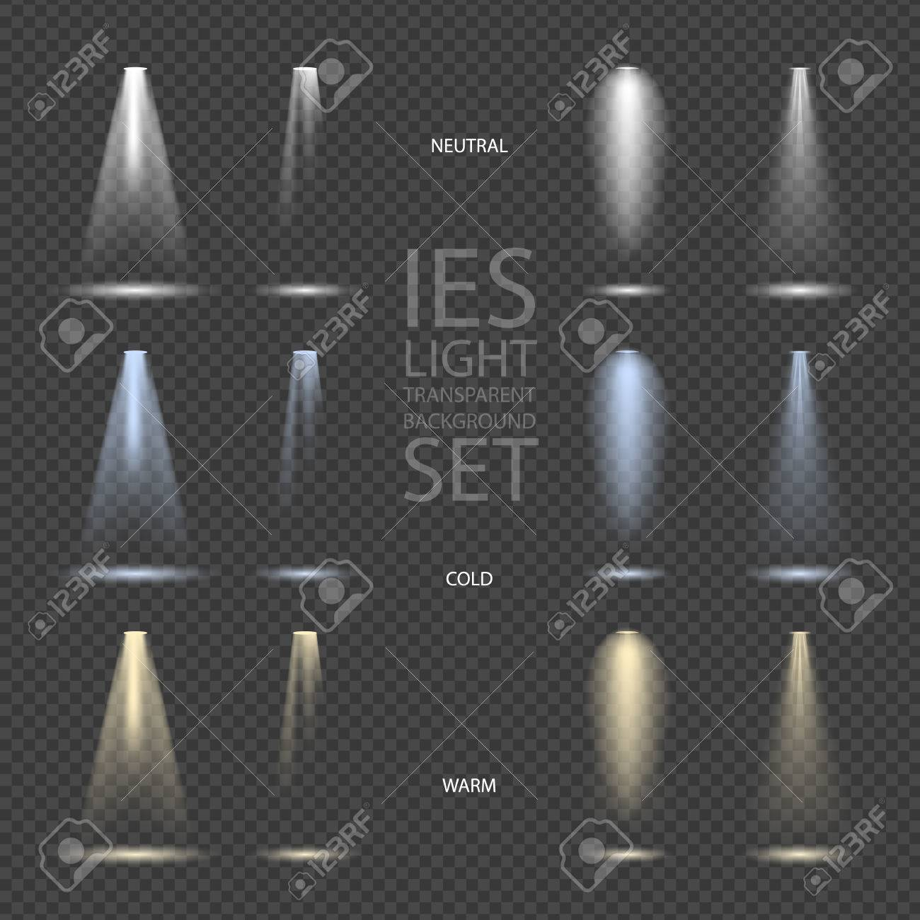 Light Effect Spotlight with Transparent Background Set - 56833342