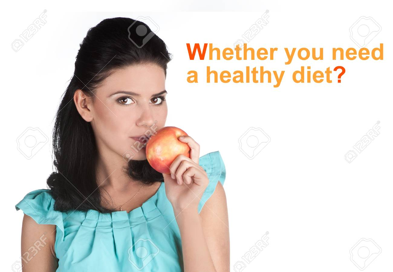 Attractive young girl with fruits Stock Photo - 11697560