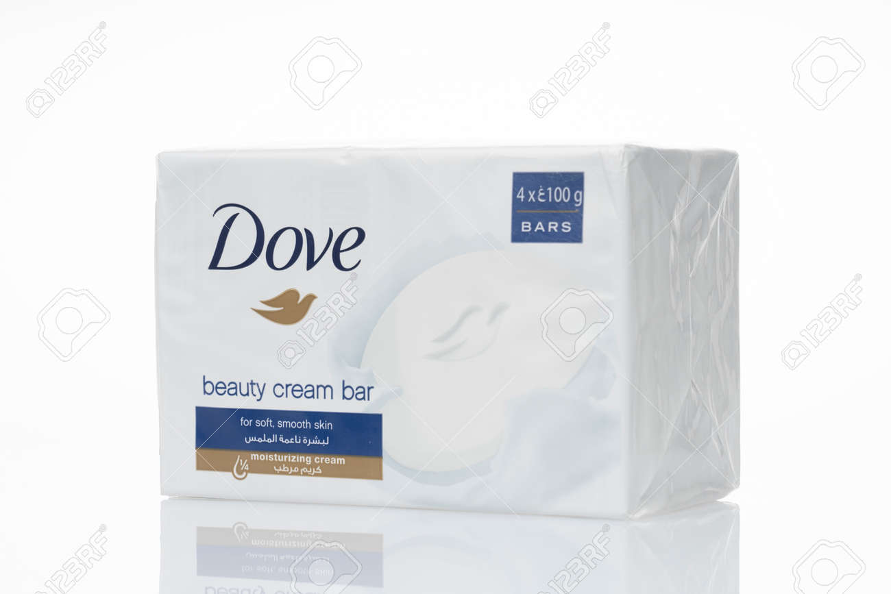 Dove Beauty cream bar soap is isolated on a white background. - 164841578