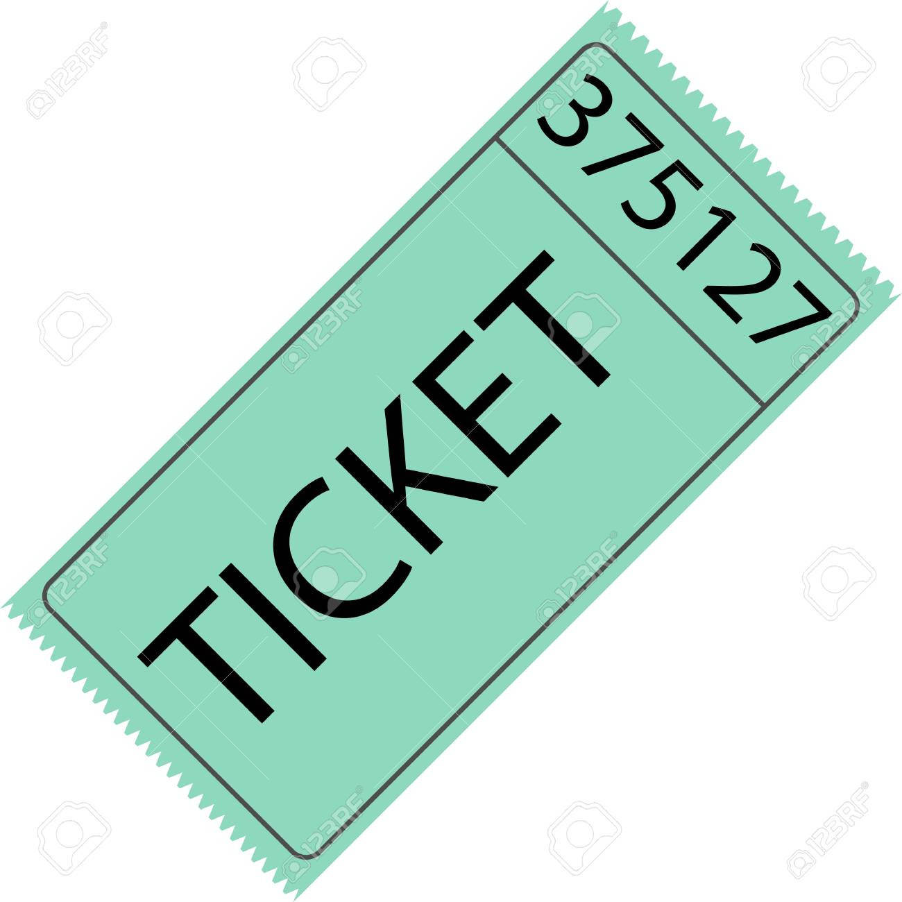tear off ticket with number royalty free cliparts vectors and