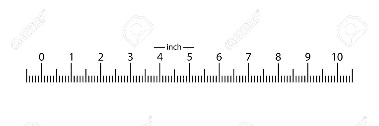 Real Ruler 10 Inches From The Bottom Location Of The Scale 1 Royalty Free Cliparts Vectors And Stock Illustration Image 128508658