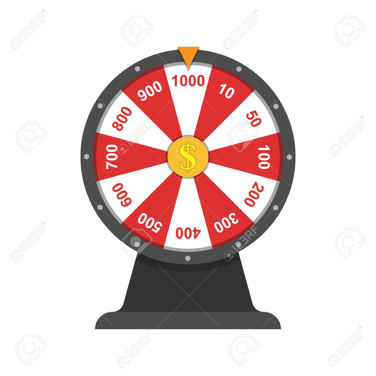 Wheel of fortune.Simple flat design isolated on white background - 146172736