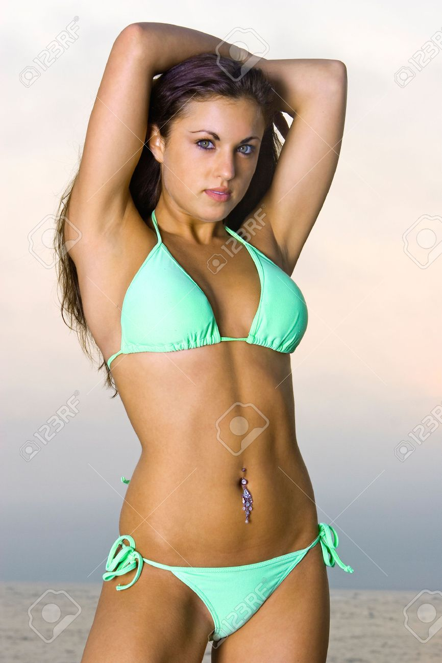 Lovely Young Woman In A Bikini Stock Photo, Picture And Royalty ...
