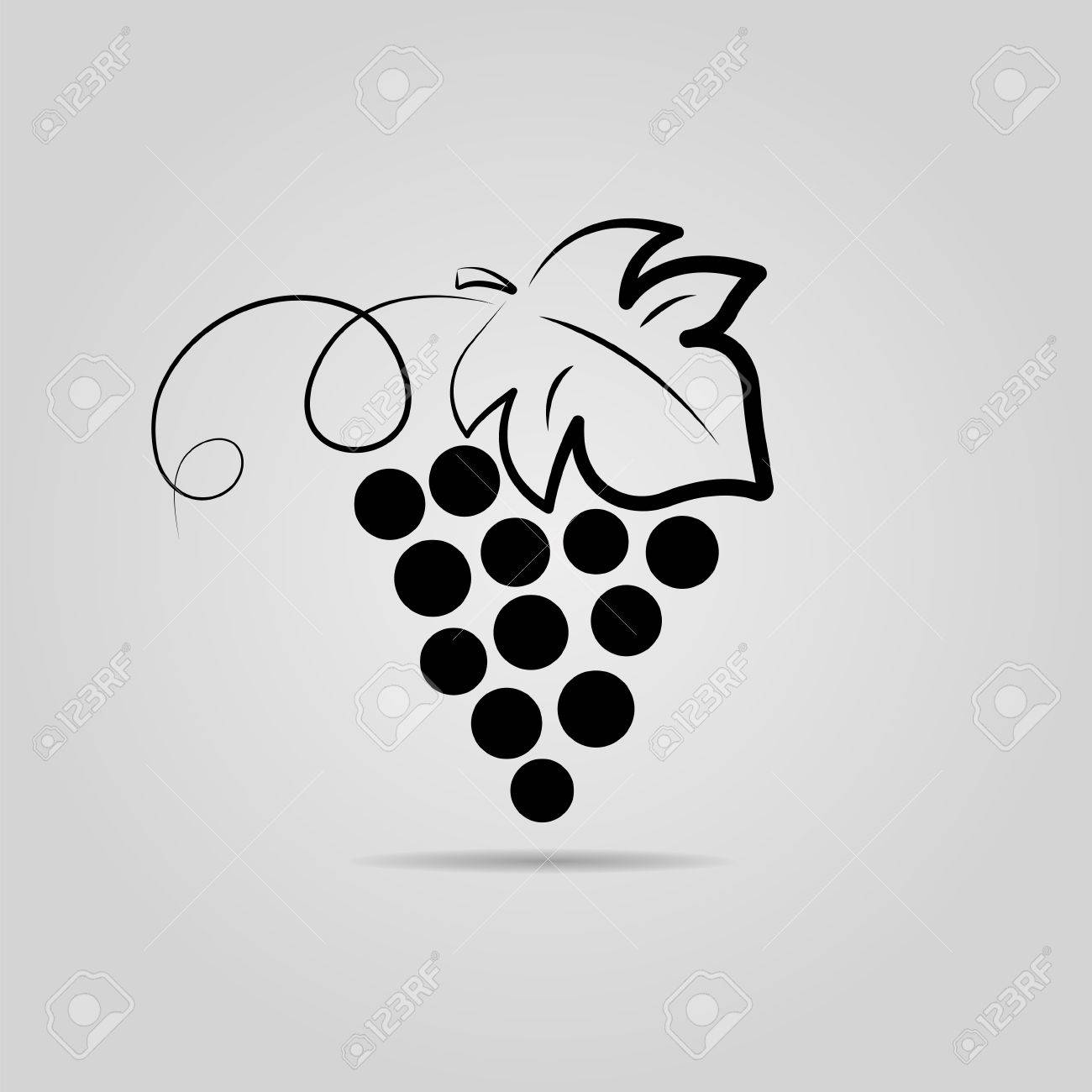 Bunch of grapes. Wine background. Logo design for the company. - 74724497